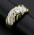 Estate Jewelry:Rings, Lady's Two Tone Diamond Ring. ...