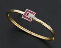 Estate Jewelry:Bracelets, Guy Laroche Ruby & Diamond Bracelet. ...
