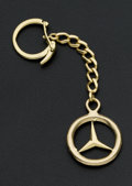 "Estate Jewelry:Other , Gold ""Mercedes"" Key Chain. ..."