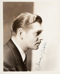 Movie/TV Memorabilia:Autographs and Signed Items, A Clark Gable Signed Black and White Photograph, Circa 1935....