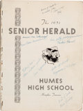 Music Memorabilia:Autographs and Signed Items, Elvis Presley Signed Humes High School Yearbook, 1951.. ...