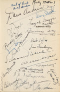 Movie/TV Memorabilia:Autographs and Signed Items, An Elizabeth Taylor, Dana Andrews, and Others Signed Book 'Elephant Walk,' Circa 1954.... (Total: 2 Items)