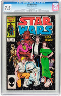 Modern Age (1980-Present):Science Fiction, Star Wars #107 (Marvel, 1986) CGC VF- 7.5 Cream to off-whitepages....