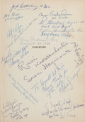 Movie/TV Memorabilia:Autographs and Signed Items, An Audrey Hepburn, Mel Ferrer and Others Signed Book 'GreenMansions: A Romance of the Tropical Forest,' 1958....