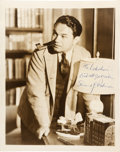 Movie/TV Memorabilia:Autographs and Signed Items, An Edward G. Robinson Signed Sepia Photograph, Circa 1956....