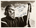 Movie/TV Memorabilia:Autographs and Signed Items, A Charlton Heston Signed Black and White Photograph, Circa 1956....