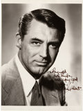 Movie/TV Memorabilia:Autographs and Signed Items, A Cary Grant Signed Black and White Photograph, Circa 1955....