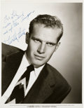 Movie/TV Memorabilia:Autographs and Signed Items, A Charlton Heston Signed Black and White Photograph, 1953....