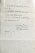 Movie/TV Memorabilia:Autographs and Signed Items, A Three Stooges Signed Television Contract, 1949....