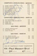 Movie/TV Memorabilia:Autographs and Signed Items, A Frank Sinatra and Ella Fitzgerald Signed Menu from the Cal-NevaLodge, Circa 1963....