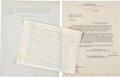 """Movie/TV Memorabilia:Documents, A Marilyn Monroe Set of Documents Related to """"The Prince and theShowgirl.""""... (Total: 3 Items)"""