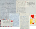 Movie/TV Memorabilia:Documents, A Marilyn Monroe-Received Group of Personal Letters, 1953-1961....(Total: 7 Items)
