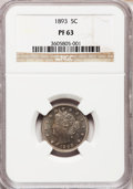 Proof Liberty Nickels: , 1893 5C PR63 NGC. NGC Census: (46/267). PCGS Population (98/302).Mintage: 2,195. Numismedia Wsl. Price for problem free NG...