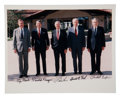 Autographs:U.S. Presidents, Gerald Ford: Five Presidents Signed Photo....