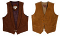 Miscellaneous, Western Apparel: Two Leather Vests. ... (Total: 2 Items)