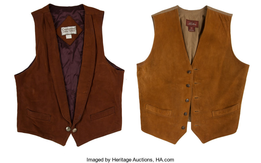 Western Apparel: Two Leather Vests      (Total: 2 Items) | Lot