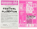 Music Memorabilia:Memorabilia, British Jazz Blues Festival featuring Pink Floyd Handbill Group(1969).... (Total: 2 Items)