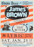 "Music Memorabilia:Posters, James Brown ""Living in America"" Concert Poster (1986)...."