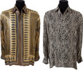 Music Memorabilia:Costumes, Johnnie Taylor Personally-Owned Shirts.... (Total: 2 Items)