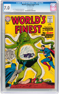 World's Finest Comics #110 (DC, 1960) CGC FN/VF 7.0 Off-white pages