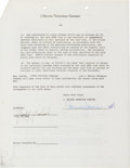 Movie/TV Memorabilia:Autographs and Signed Items, A Judy Garland Signed Contract, 1950....
