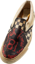 """Movie/TV Memorabilia:Costumes, A Sean Penn Inscribed 'Vans' Sneaker from """"Fast Times at Ridgemont High.""""..."""