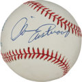 Movie/TV Memorabilia:Autographs and Signed Items, A Clint Eastwood Signed Baseball, Circa 1990s....