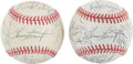 Autographs:Baseballs, 1990's Chicago White Sox Team Signed Baseballs Lot Of 2....