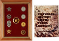 Political:Ribbons & Badges, Texas Ranger Pictorial History Signed By Over 100 Rangers and Inscribed to Clint Peoples, Circa 1970 and Framed Collection of ... (Total: 2 Items)
