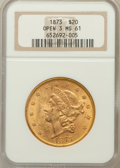Liberty Double Eagles: , 1873 $20 Open 3 MS61 NGC. NGC Census: (1978/799). PCGS Population(1113/1002). Numismedia Wsl. Price for problem free NGC/...