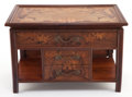Furniture : French, A LOUIS MAJORELLE (French, 1859-1926) MARQUETRY CABINET . Circa1900. Signed: L. Majorelle, Nancy. 13-1/2 x 20-1/4 x 12...