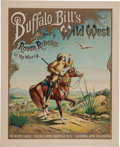 "Western Expansion:Cowboy, Buffalo Bill's Wild West: The Sought-After Classic ""White Eagle""Poster...."
