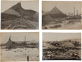 Photography:Cabinet Photos, [Alaska Gold Mining]. Four Original Prints of Gold MiningOperations in the Fairbanks District, Circa 1904-1906.... (Total: 4Items)