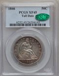 Seated Half Dollars: , 1846 50C Tall Date XF45 PCGS. CAC. PCGS Population (12/44). NGCCensus: (0/0). ...
