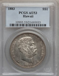 Coins of Hawaii: , 1883 $1 Hawaii Dollar AU53 PCGS. PCGS Population (28/164). NGCCensus: (15/154). Mintage: 500,000. ...