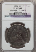 Seated Dollars: , 1856 $1 -- Improperly Cleaned -- NGC Details. XF. NGC Census:(3/45). PCGS Population (7/104). Mintage: 63,500. Numismedia ...