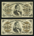 Fractional Currency:Third Issue, Fr. 1294 25¢ Third Issue Choice New;. Fr. 1295 25¢ Third Issue Choice New.. ... (Total: 2 notes)