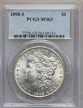 Morgan Dollars: , 1898-S $1 MS63 PCGS. PCGS Population (1073/1624). NGC Census:(569/714). Mintage: 4,102,000. Numismedia Wsl. Price for prob...