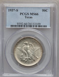 Commemorative Silver: , 1937-S 50C Texas MS66 PCGS. PCGS Population (442/83). NGC Census:(449/100). Mintage: 6,637. Numismedia Wsl. Price for prob...