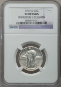 Standing Liberty Quarters: , 1919-D 25C -- Improperly Cleaned -- NGC Details. XF. NGC Census:(22/240). PCGS Population (39/392). Mintage: 1,944,000. Nu...