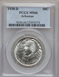Commemorative Silver: , 1938-D 50C Arkansas MS66 PCGS. PCGS Population (111/19). NGCCensus: (45/9). Mintage: 3,155. Numismedia Wsl. Price for prob...