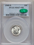 Mercury Dimes: , 1940-D 10C MS67+ Full Bands PCGS. CAC. PCGS Population (309/22).NGC Census: (197/4). Mintage: 21,198,000. Numismedia Wsl. ...