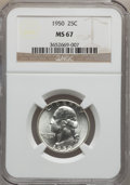 Washington Quarters: , 1950 25C MS67 NGC. NGC Census: (206/0). PCGS Population (32/0).Mintage: 24,971,512. Numismedia Wsl. Price for problem free...