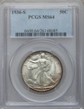 Walking Liberty Half Dollars: , 1936-S 50C MS64 PCGS. PCGS Population (720/896). NGC Census:(434/612). Mintage: 3,884,000. Numismedia Wsl. Price for probl...