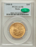 Indian Eagles: , 1908-D $10 Motto AU58 PCGS. CAC. PCGS Population (146/395). NGCCensus: (205/395). Mintage: 836,500. Numismedia Wsl. Price ...