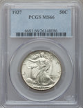 Walking Liberty Half Dollars: , 1937 50C MS66 PCGS. PCGS Population (602/106). NGC Census:(364/76). Mintage: 9,527,728. Numismedia Wsl. Price for problem ...
