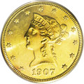 "Liberty Eagles: , 1907-S $10 MS63 PCGS. Jeff Garrett says it superbly in his (and RonGuth's) monumental new gold coin Encyclopedia: ""The..."
