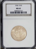 Indian Eagles: , 1926 $10 MS62 NGC. A charming canary-yellow example of this popularissue. Lustrous and sharply struck with few marks overa...