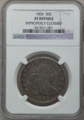 Early Half Dollars: , 1806 50C Pointed 6, No Stem -- Improperly Cleaned -- NGC Details.XF. PCGS Population (36/124). (#6073...