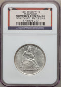 Seated Half Dollars, 1861-O 50C SS Republic -- Shipwreck Effect (A) -- ConfederateStates Issue NGC. AU. W-10. Wooden display box and COA includ...